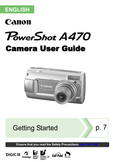 Powershot A510 and A520 User Manual