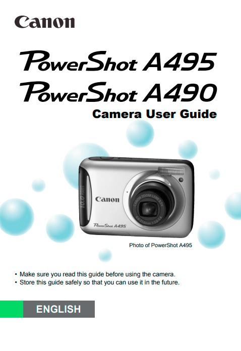 PowerShot A490-A495 Manual