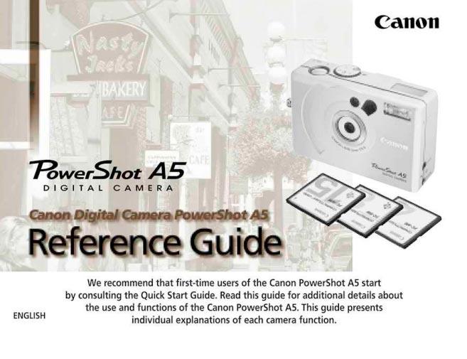 PowerShot A5 Manual