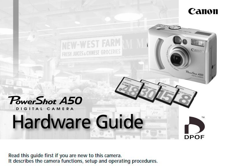 PowerShot A50 Manual