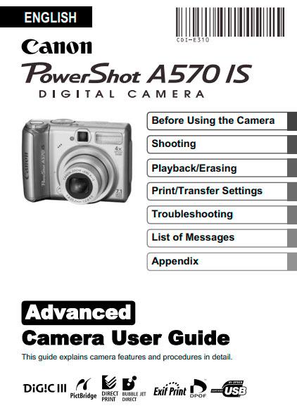 PowerShot A570 Advanced Manual