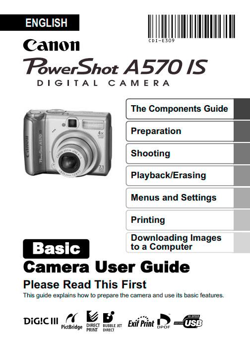 PowerShot A570 Basic Manual