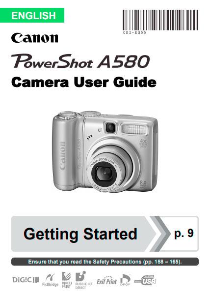 PowerShot A580 Manual