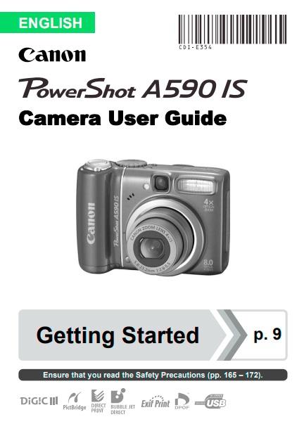 PowerShot A590 User Manual