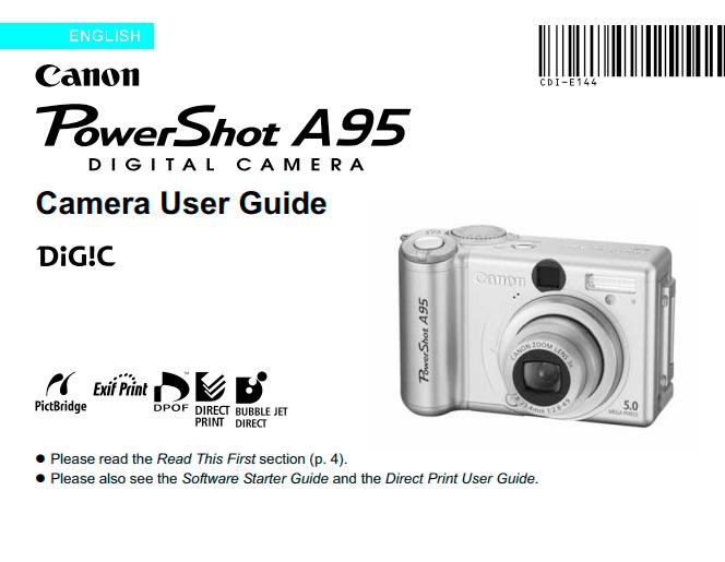 PowerShot A95 User Manual