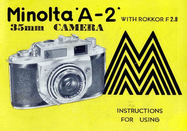 Minolta A2 Instructions